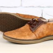 Туфли мужские Timberland коричневые кожаные