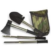 ☀ Акция ☀ Туристический набор 4 в 1: саперская Лопата Топор Пила Нож с чехлом