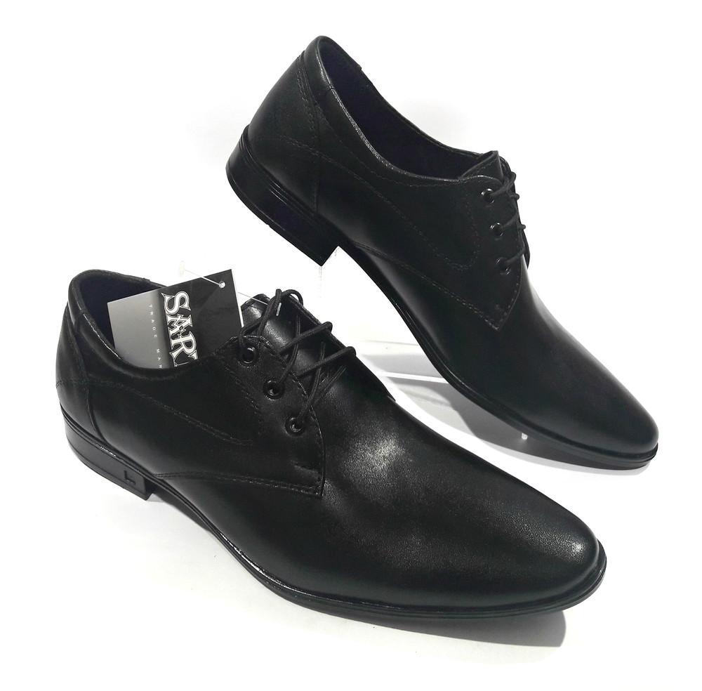Классические кожаные туфли на шнурках, модель 208 фото №1