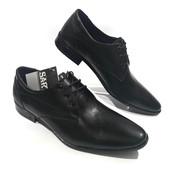 Классические кожаные туфли на шнурках, модель 208