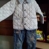 Курточка и джинсы для девочки! В ПоДарок 3 кофточки Next