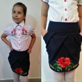 Школьная юбка с вышивкой