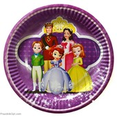 Декор и одноразовая детская бумажная посуда Принцесса София