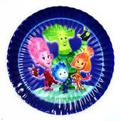 Декор и одноразовая детская бумажная посуда Фиксики