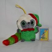 Маленький мягкий глазастик Aurora юху лемур эльф новогодний YooHoo Юху и Друзья