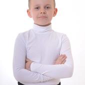Гольф классика белый Люксик для мальчика