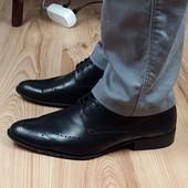 Кожаные туфли премиум класса Filograna 42-42,5 р. Италия