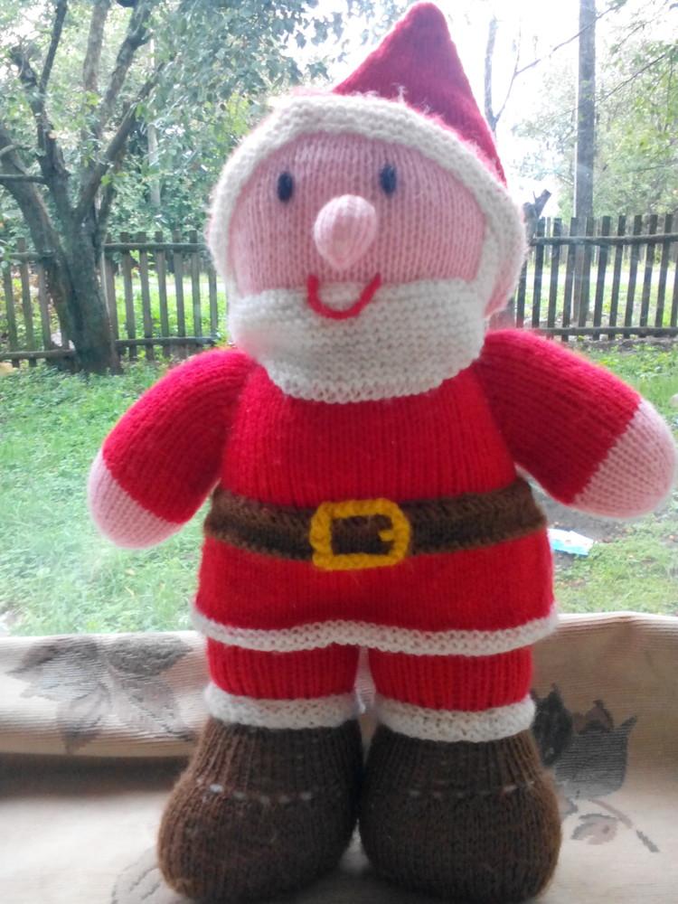 Санта клаус вязанный. дед мороз 37 см. фото №1