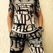 Летний костюм Armani футболка и шорты