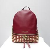 Кожаный рюкзак с заклепками Michael Kors cherry оригинал