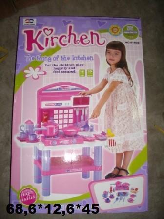 Кухня 61008 с посудой батар.муз.свет.68,6*12,6*45 фото №1