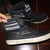 кожаные стильные кеды 47 р Uk 12 (31 см)