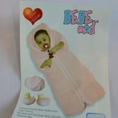 Новое розовое велюровое одеяло-конверт
