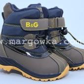Новые термо-ботинки b&g termo r161-3196 размеры 22-29