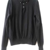 Купить мужской легкий свитер пуловер из шерсти мериноса Ralph Lauren XL