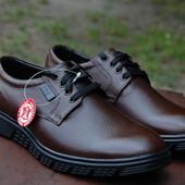 Туфли casual на грубой подошве.Натуральная кожа