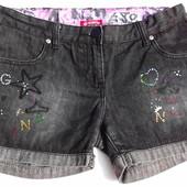 Ginkana. Джинсовые короткие шорты с цветными стразами. Испания.