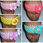 Повязочки на голову для маленьких принцесс,цветочек.