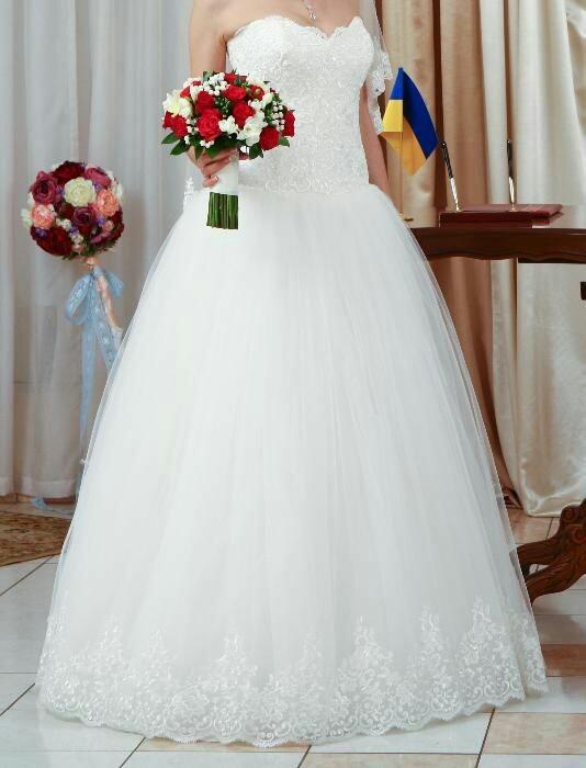 Очень красивое свадебное платье фото №1