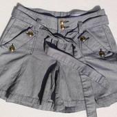 Gina Tricot. Молодёжные полосатые шорты с якорями на пуговицах. Скандинавия.