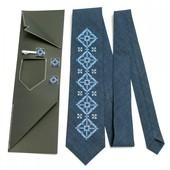 Галстук Вишитий набір Сухан краватка + зажим + запонки