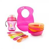 Набор первой посуды для девочек Tommee Tippee 44673691 Великобритания розовый 12115135
