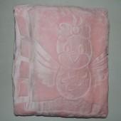 Детский плед велюр розовый Турция