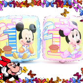 Новинка!Красивые квадратные шарики с Микки и Минни Маус (вналичии только розовый)