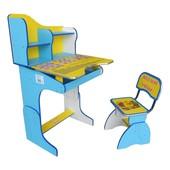 Rus Парта + стул E2071 (Сине-Желтая)