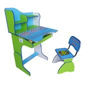Rus Парта + стул E2071 (Зелено-голубая)