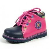 Детские демисезонные ботинки для девочки Clibee. Р.21-26