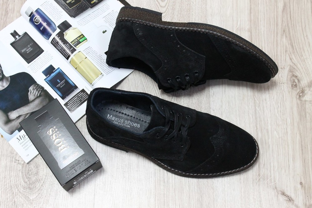 Туфли из натур. замши, р. 41, код ks-2265 фото №1