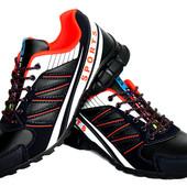 41 и 43 р Яркие мужские комфортные кроссовки синие KM-Sport