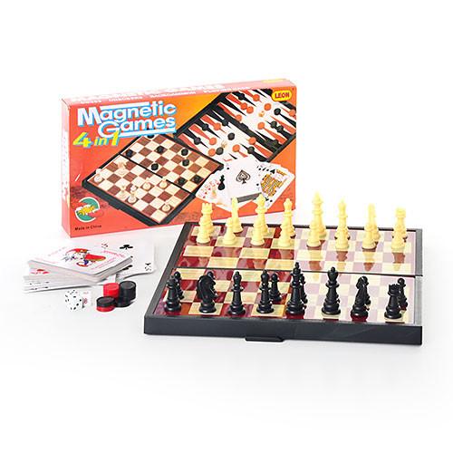 Шахматы 9841 4 в 1 фото №1