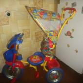 велосипед детский до 3 лет с ручкой и козырьком