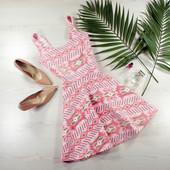 S-M Boohoo шикарное платье в ацтекский принт недорого!0259