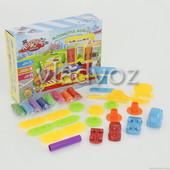 Игровой набор тесто масса для лепки, пластилин заправка + 2 машинки