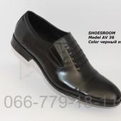 Скидка! Кожаные классические мужские туфли,последний размер!
