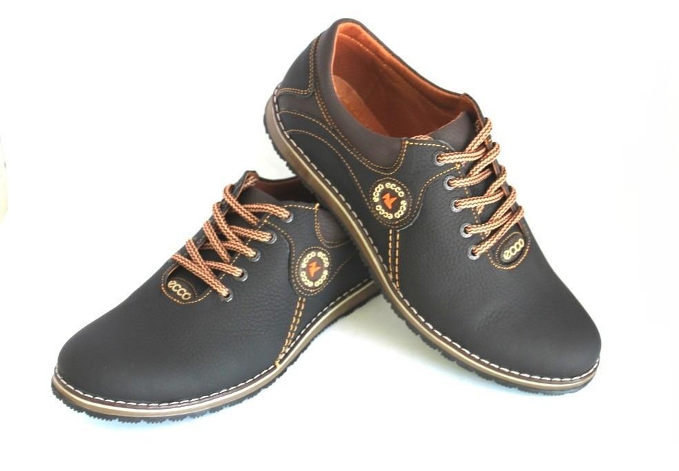 Новинка! Мужские кожаные туфли спорт и комфорт, разные цвета! фото №1