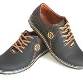 Новинка! Мужские кожаные туфли спорт и комфорт, разные цвета!