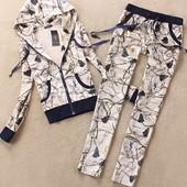 Люксовый хлопковый спортивный костюм Yves Saint Laurent , расцветки