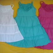 Акция!Нежные хлопковые летние платья-сарафаны Grace,для девочек ростом 104-122 см. см