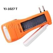 Фонарь аккумуляторный ручной на солнечной батарее YJ-1028Т