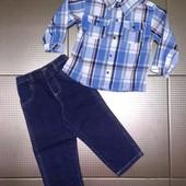 Комплект для мальчика джинсы и рубашка США, 3T