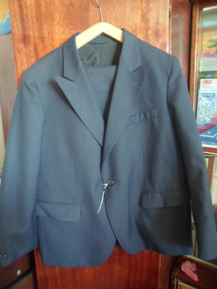новый мужской классический костюм на 1 пуговице 58 размера на рост 164 см фото №1