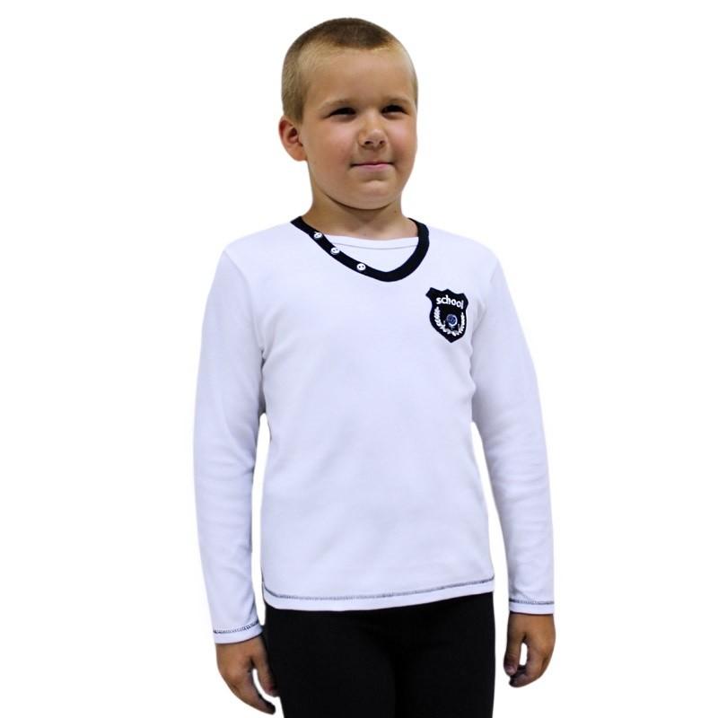 Детский школьный джемпер рубашка для мальчика фото №1