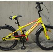 """Велосипед """"Тilly flash"""" 20"""" .Желтый, голубой."""