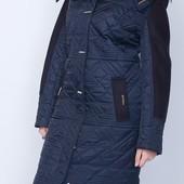 Куртка пальто зимняя удлиненная по колено 42 до 62