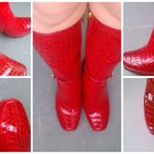 Червоні шкіряні сапожки на ваші ножки! 38-39 розмір