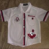 Стильная белая нарядная рубашка для мальчика